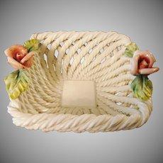 Decorative Capodimonte Style Basket ~ Made in Italy