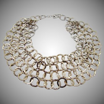 Stunning Runway Gold Tone Four Strand Necklace by Graziano