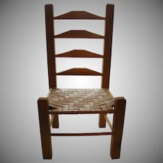 Large Doll Ladder Back Chair