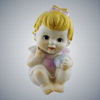 Bisque Porcelain Piano Baby