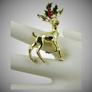 Gerry's Small Reindeer Christmas Brooch