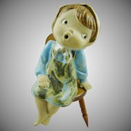 Seto Craft Original Japan ~ Sitting Girl and Chair