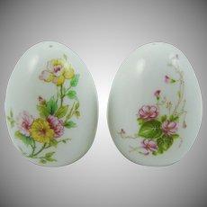 Lefton Floral Porcelain Salt & Pepper Shakers