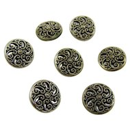 Filigree Mirror Backed Metal Buttons