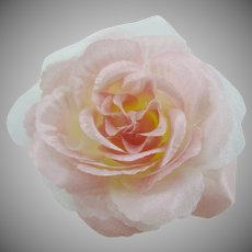 Pink Camellia Fabric Corsage