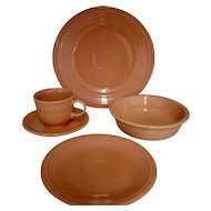 8 Place Settings of Homer Laughlin Fiesta Apricot (Retired) ~ Wedding Gift