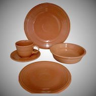 8 Place Settings of Homer Laughlin Fiesta Apricot (Retired)