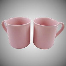 Two Soft Pink Mugs Japan