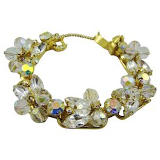 Sparkling Juliana Crystal Bead and Marquise Rhinestone Bracelet