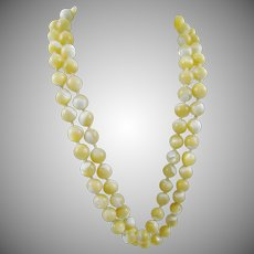 Single Strand Mother of Pearl Bead Necklace