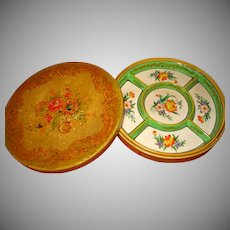 Hand Painted Japan Porcelain Divided Tray