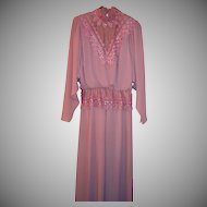 Vintage Formal Gown in Rose ~ Size 10