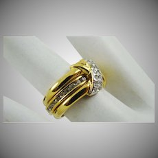 Joan Rivers Classics Collection Wide Band Ring with White Rhinestones