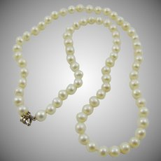 Cultured Pearl and Sterling Necklace