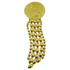 Thelma Deutsch Gold Tone Roman Figure Brooch