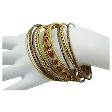 Gypsy Style Bangle Bracelet Set