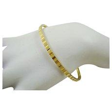 Crown Trifari Gold Tone Bangle Bracelet