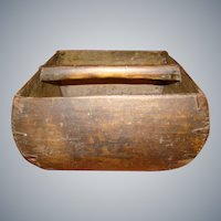 Circa 1920s Rare Primitive Wooden Rice Box
