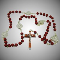 Hand Carved Bead Rosary