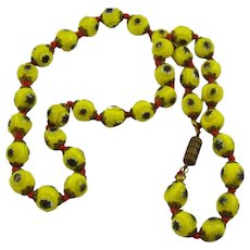 Venetian Millefiori Glass Bead Necklace