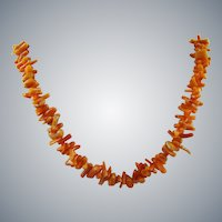 Polished Salmon Coral Branch Choker/Necklace