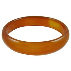 Carnelian Agate Carved Bangle Bracelet