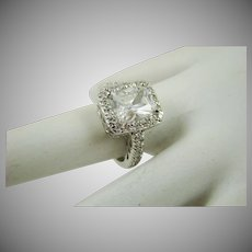 Faux Diamond Engagement Ring