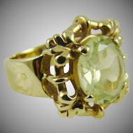 14Kt Gold:Citrine Colored Stone:Size 5 3/4