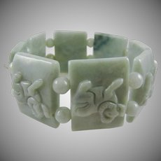 Pale Green Jadite Expansion Bracelet