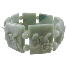 Pale Green Jadite Expansion Bracelet