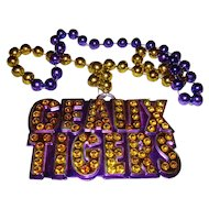 LSU Mardi Gras Throw