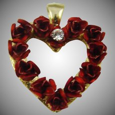 Red Rose Heart Pendant