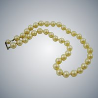 Cream Glass Faux Pearl Choker