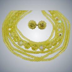 Breathtaking Vogue Yellow Crystal Set