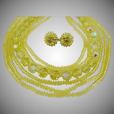 Breathtaking Vogue Yellow Crystal Set