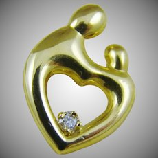 14Kt Gold Janel Russell Heart Collection Pendant