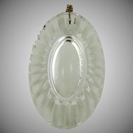 Oval Crystal Pendant Waterford Style