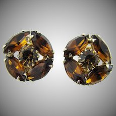 Gorgeous Weiss Dark Topaz Colored Earrings