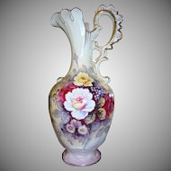 Stately Victorian Style Ewer ~ Floral Design