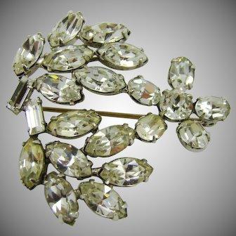 Sparkling Rhinestone Floral Brooch