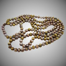 Big Enhanced Color Bronze Freshwater Cultured Pearls