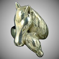 Sterling Silver Mare and Foal Ring