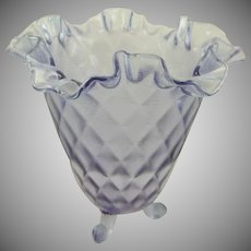 Fenton Wisteria Threaded Diamond Optic Vase