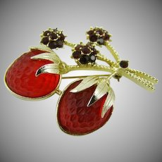 "Sarah Coventry ""Strawberry Festival"" Brooch"