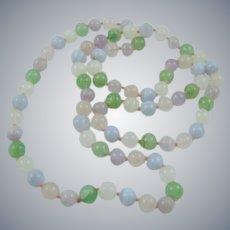 Pastel Quartz Bead Necklace