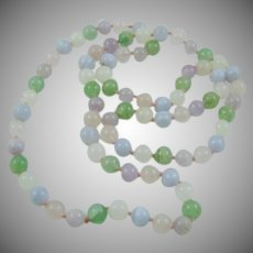 Pastel Quartz Bead Necklace