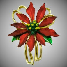 Small Poinsettia Brooch