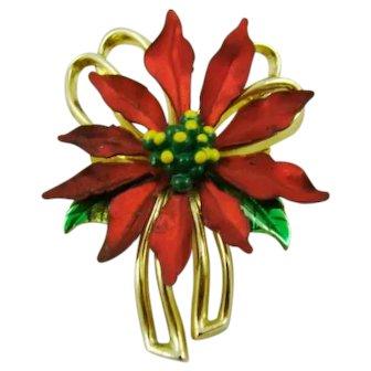 Small Poinsettia Brooch