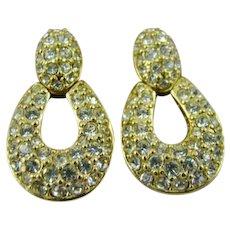 Swarovski Crystal Door Knocker Earrings