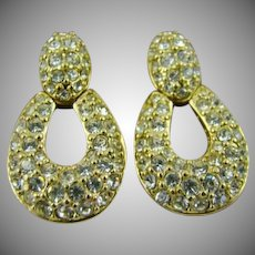Swarovski Crystal Door Knocker Earrings